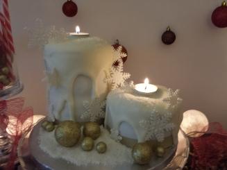 Christmas Candles Cake