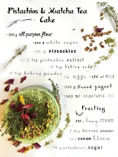 Matcha-Pistachio Cake Recipe