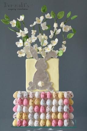 Easter Bunny Eggs Cake